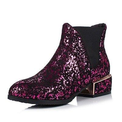 Chunky Heel Suede Zipper Boots_1