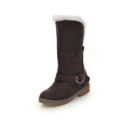 Women's Boots Round Toe Black Low Heel Boots_10