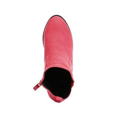 Chunky Heel PU Zipper Boots_5