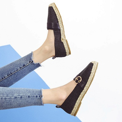 Women Canvas Flat Loafers Casual Comfort Shoes_17
