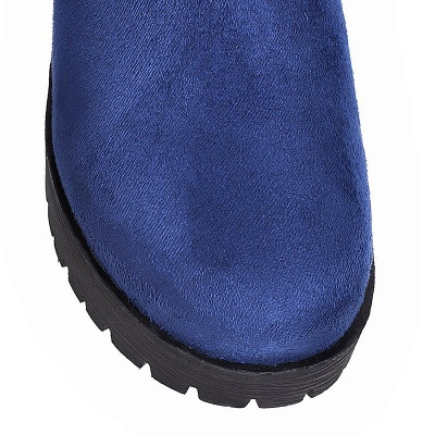 Suede Daily Chunky Heel Round Toe Boot_13