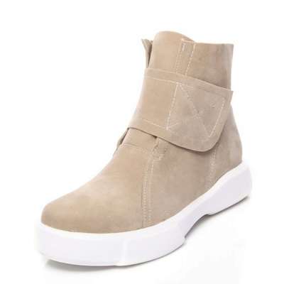 Flat Heel Round Toe Casual Middle Heel Boots_7