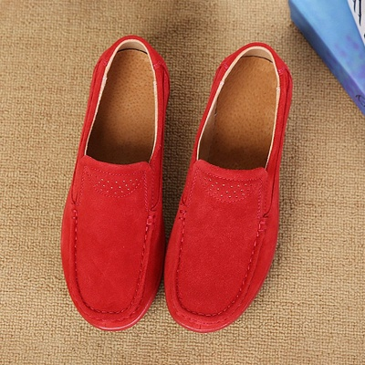 Wedge Heel Daily Round Toe Casual Loafers_10