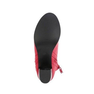 Chunky Heel PU Zipper Boots_6