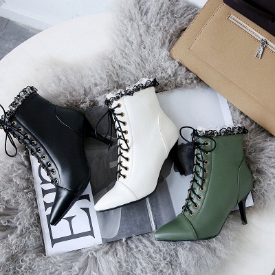 Date Fall Stiletto Heel Lace-up Pointed Toe Boots_7