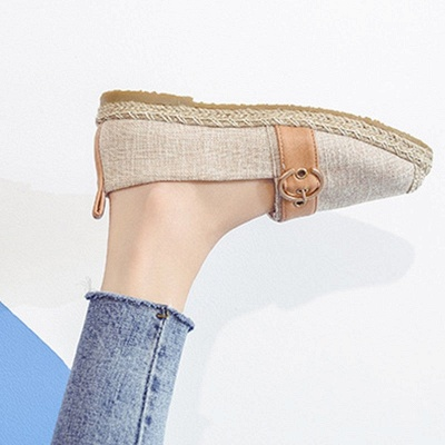 Women Canvas Flat Loafers Casual Comfort Shoes_14