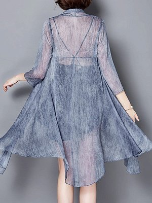 Asymmetrical Elegant Chiffon Coat_5