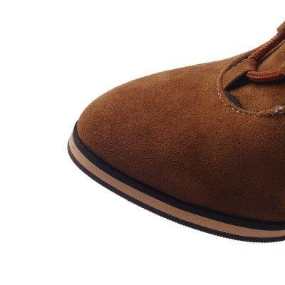 Chunky Heel Daily Rhinestone Pointed Toe Boots_16