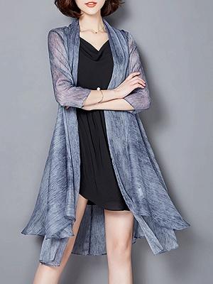 Asymmetrical Elegant Chiffon Coat_3