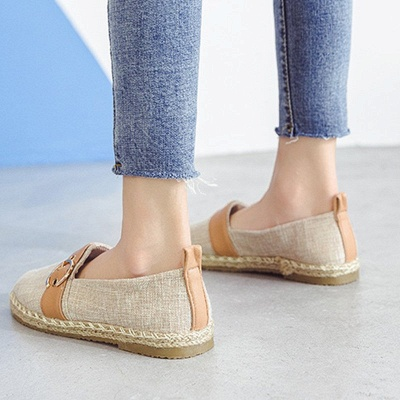 Women Canvas Flat Loafers Casual Comfort Shoes_15