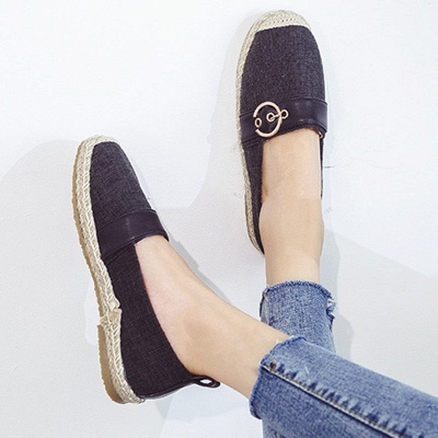 Women Canvas Flat Loafers Casual Comfort Shoes_6