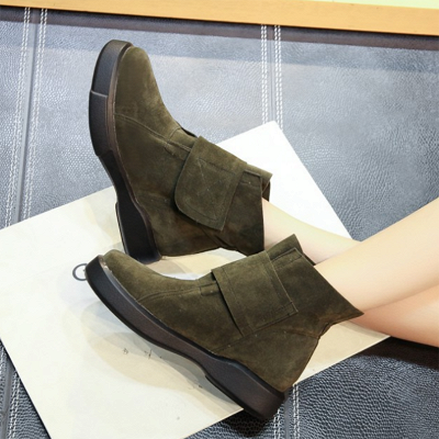 Flat Heel Round Toe Casual Middle Heel Boots_3