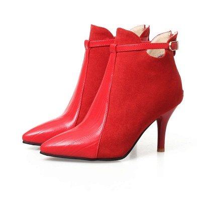 Buckle Stiletto Heel Daily Elegant Boots_1