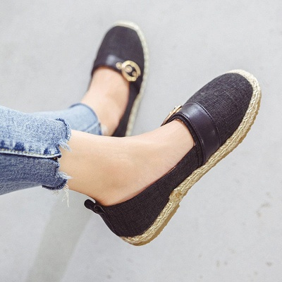 Women Canvas Flat Loafers Casual Comfort Shoes_4