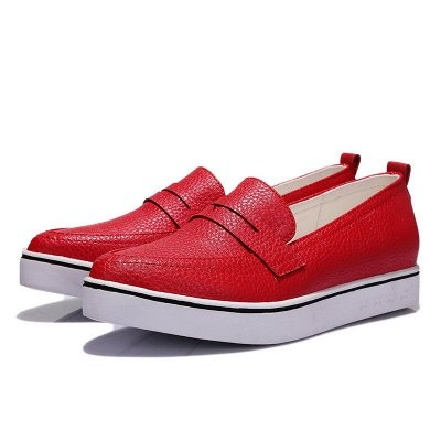 Casual  Pointed Toe Wedge Loafers_3
