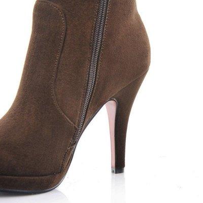 Women's Boots Stiletto Heel Flower Pointed Toe Elegant Black Boots_12