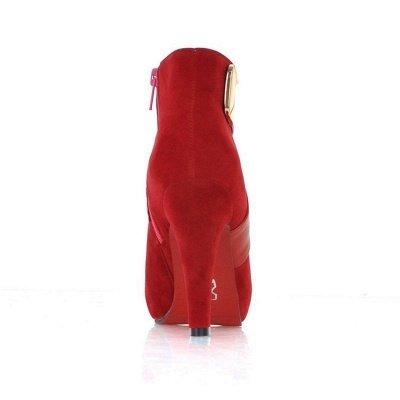 Stiletto Heel Zipper Suede Lace-up Cone Heel Round Toe Boots_16