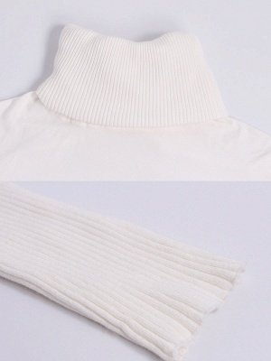 Casual Solid Long Sleeve Shift Sweater_7