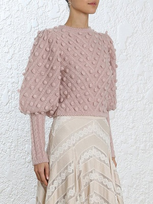 Casual Bell Sleeve Shift Cotton Sweater_4