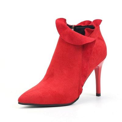 Suede Stiletto Heel Zipper Boots_8