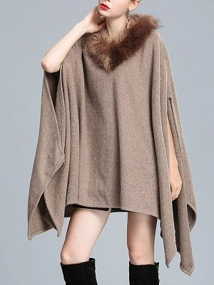 Casual Paneled Wool Shift Batwing Knit Top_2