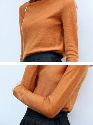 Casual Shift Long Sleeve Solid Turtleneck Sweater_14