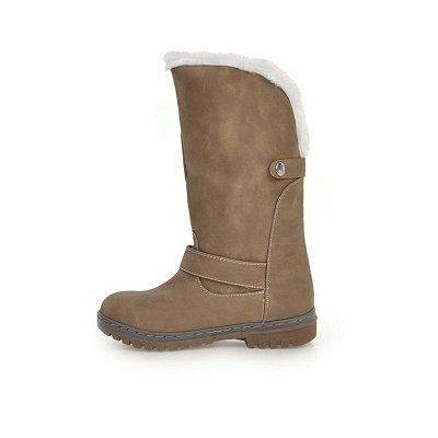 Women's Boots Round Toe Black Low Heel Boots_11