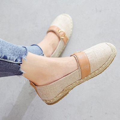 Women Canvas Flat Loafers Casual Comfort Shoes_5