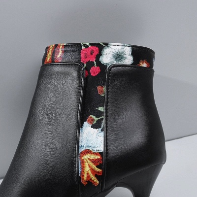 Zipper Daily Pointed Toe Elegant Stiletto Heel Boots_12