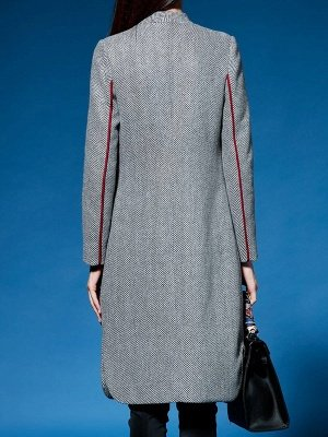 Shift Long Sleeve Pockets Solid Coat_4