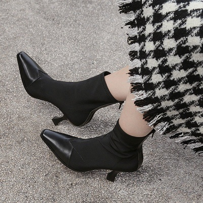 Zipper Leather Kitten Heel Boot_3