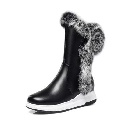 Wedge Heel Daily Zipper Round Toe Boots_5