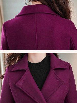 Casual Pockets Long Sleeve Lapel Coat_8