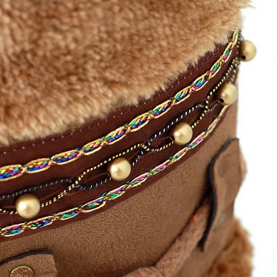 Fur Chunky Heel Suede Round Toe Boot_10