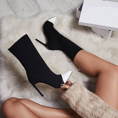 Stiletto Heel Pointed Toe Elegant Boots