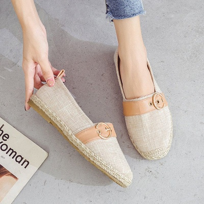Women Canvas Flat Loafers Casual Comfort Shoes_3