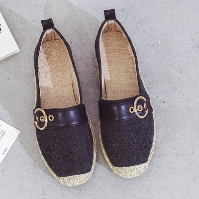 Women Canvas Flat Loafers Casual Comfort Shoes_12