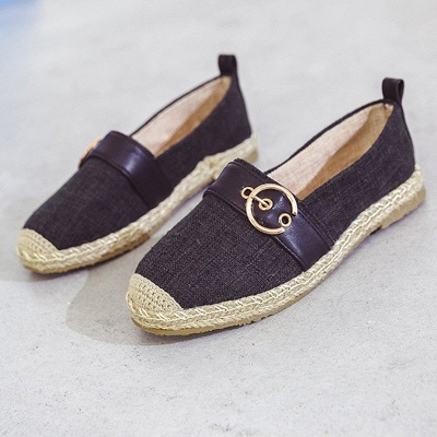 Women Canvas Flat Loafers Casual Comfort Shoes_2