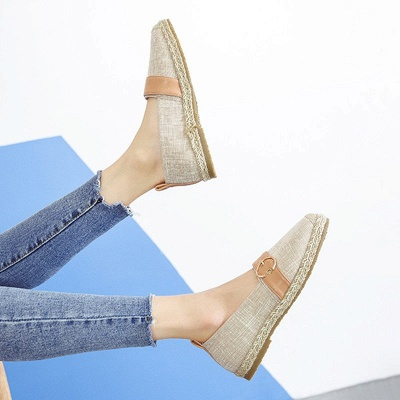 Women Canvas Flat Loafers Casual Comfort Shoes_16