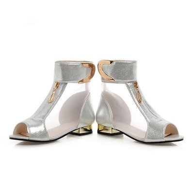 Mesh Hollow-out Peep Toe Summer Boots_3