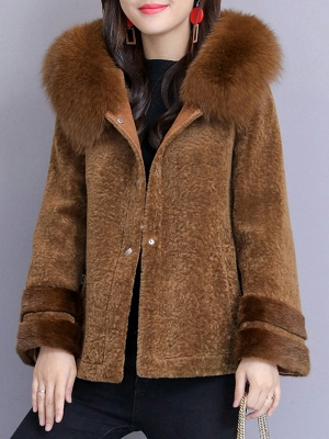 Beaded Slit Hoodie Fur And Shearling Coats_10