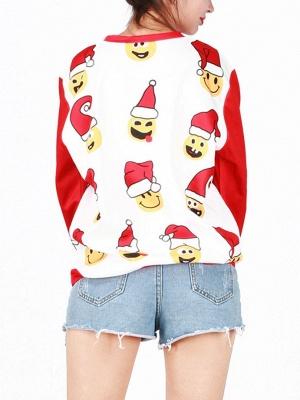 Men/Women Red Cute Cartoon Santa Claus Printed Cotton Thin Funny Christmas T-shirts_7