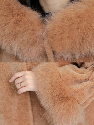 Hoodie Paneled Fluffy Fur And Shearling Coats_7
