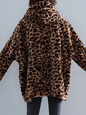 Hoodie Color-Block Fur And Shearling Coats_4