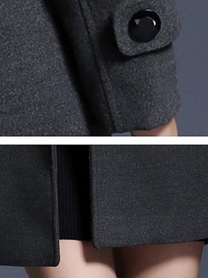 Gray Casual Long Sleeve Hoodie Coat_6