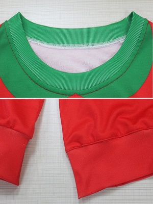 Women's Red Elk Printed Long Sleeves Casual Christmas Sweatshirt_4