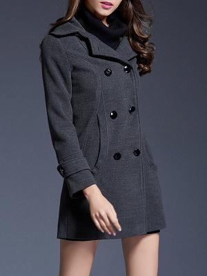 Gray Casual Long Sleeve Hoodie Coat_8