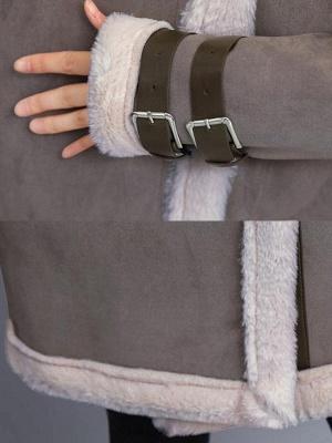 Casual Long Sleeve Fur And Shearling Coats_7