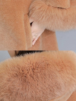 Hoodie Paneled Fluffy Fur And Shearling Coats_8