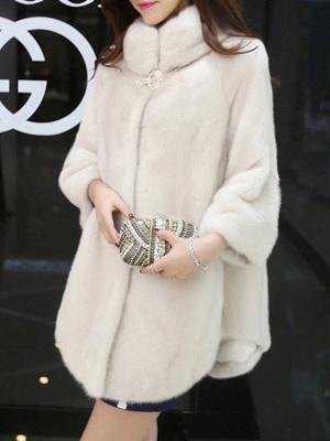 Long Sleeve Casual Fluffy Fur And Shearling Coats_4